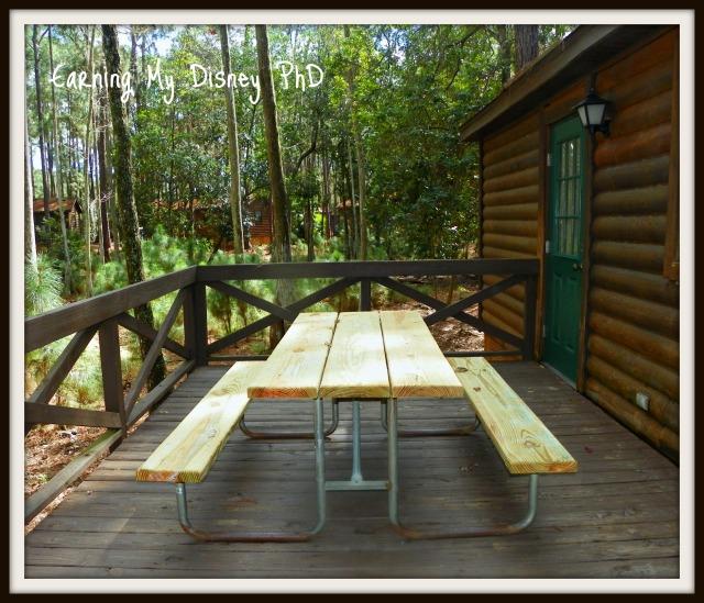 Fort Wilderness Cabins Deck
